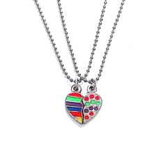 collar corazon colores